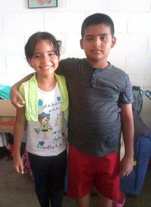 Ramón con su hermana