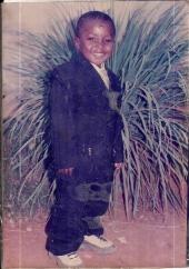 Yaw Werner as young boy