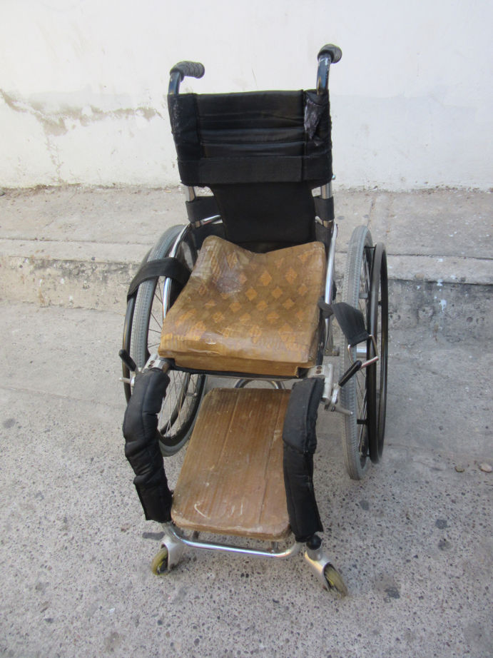 Mónica's newly adapted wheelchair