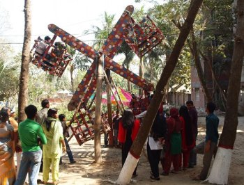 A homemade Ferris Wheel at the Center for Rehabilitation of the Paralyzed in Savar