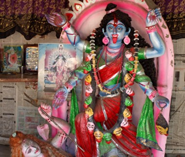 A Hindu shrine in a village in Savar. Although Bangladesh is primarily Muslim, Hindus and Muslims mainly coexist well.