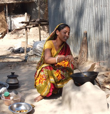 A typical kitchen in a Bangla village